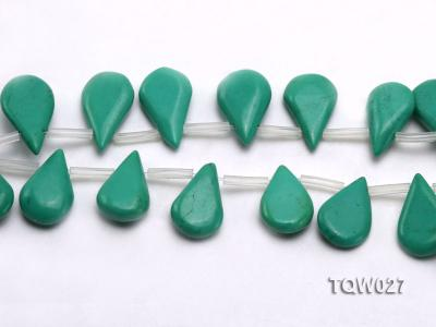 Wholesale 12x19mm Drop-shaped Green Turquoise Beads String TQW027 Image 3