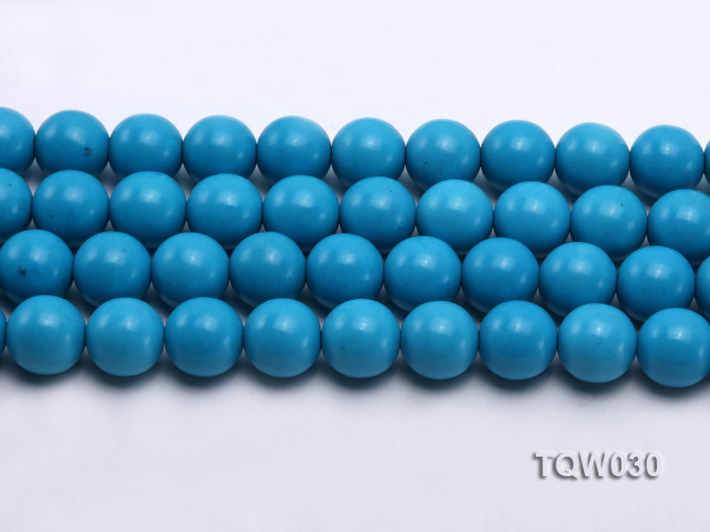 Wholesale 16mm Round Blue Turquoise Beads String big Image 2