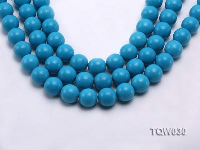 Wholesale 16mm Round Blue Turquoise Beads String TQW030 Image 1
