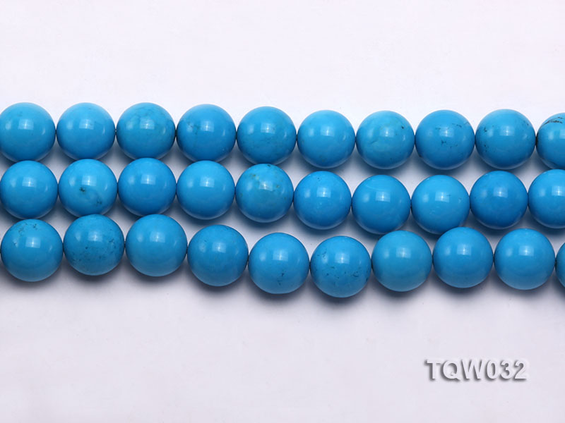 Wholesale 12mm Round Blue Turquoise Beads String big Image 2
