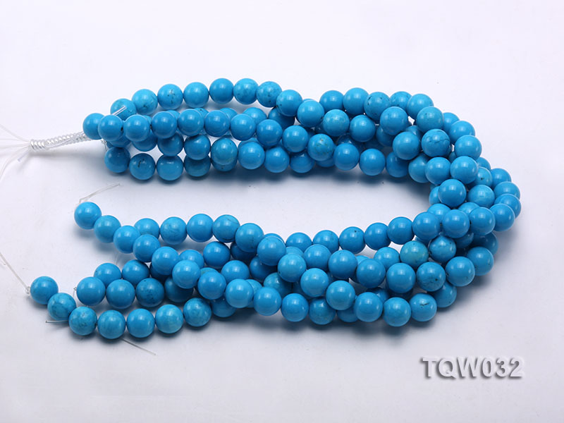 Wholesale 12mm Round Blue Turquoise Beads String big Image 3