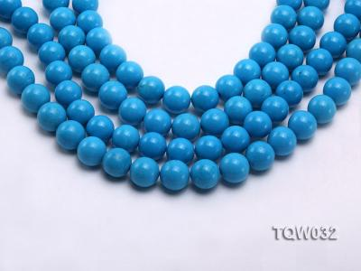 Wholesale 12mm Round Blue Turquoise Beads String TQW032 Image 1