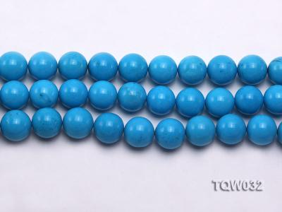 Wholesale 12mm Round Blue Turquoise Beads String TQW032 Image 2