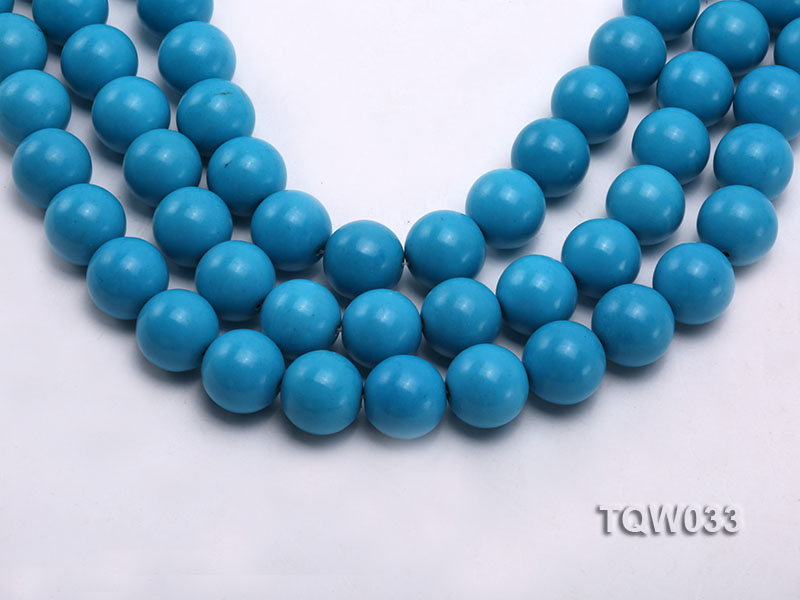 Wholesale 18mm Round Blue Turquoise Beads String big Image 1