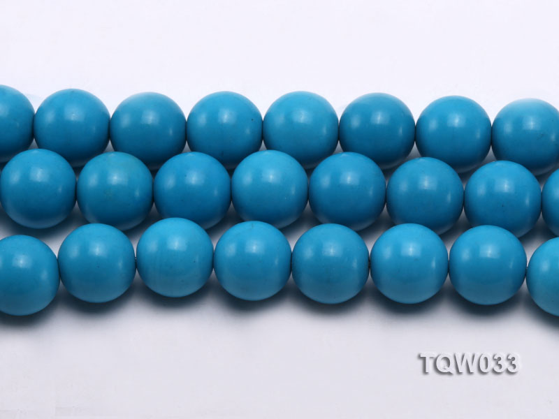 Wholesale 18mm Round Blue Turquoise Beads String big Image 2