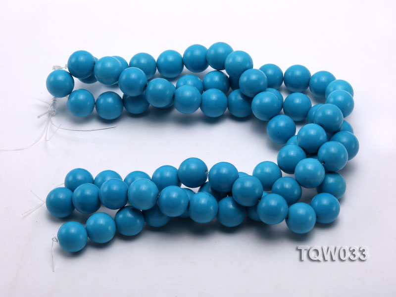 Wholesale 18mm Round Blue Turquoise Beads String big Image 3