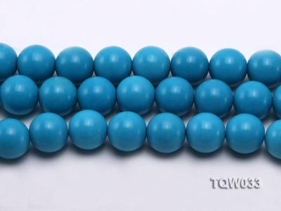 Wholesale 18mm Round Blue Turquoise Beads String TQW033 Image 2