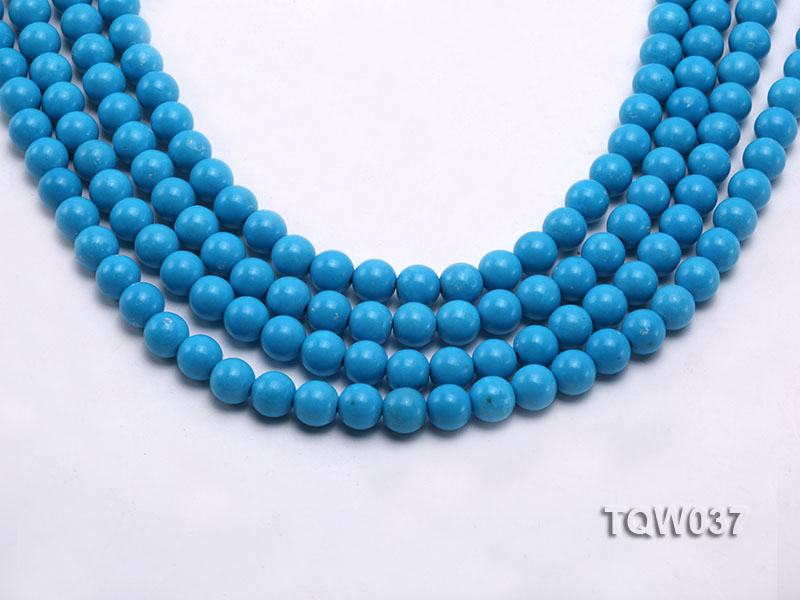 Wholesale 8.3mm Round Blue Turquoise Beads String big Image 1
