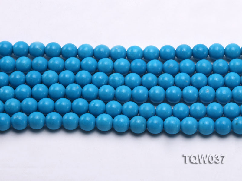 Wholesale 8.3mm Round Blue Turquoise Beads String big Image 2