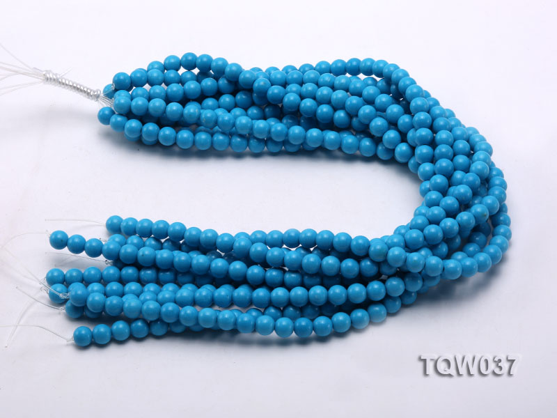 Wholesale 8.3mm Round Blue Turquoise Beads String big Image 3