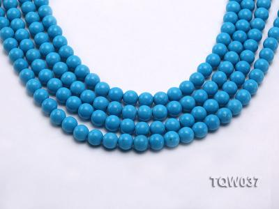Wholesale 8.3mm Round Blue Turquoise Beads String TQW037 Image 1