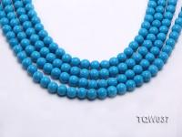 Wholesale 8.3mm Round Blue Turquoise Beads String TQW037