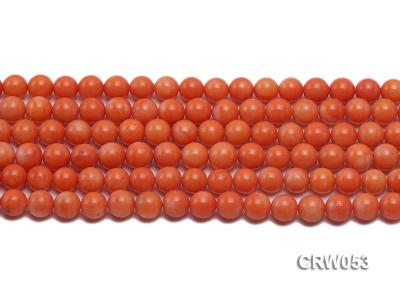 Wholesale 8mm Round Orange Coral Beads Loose String CRW053 Image 2