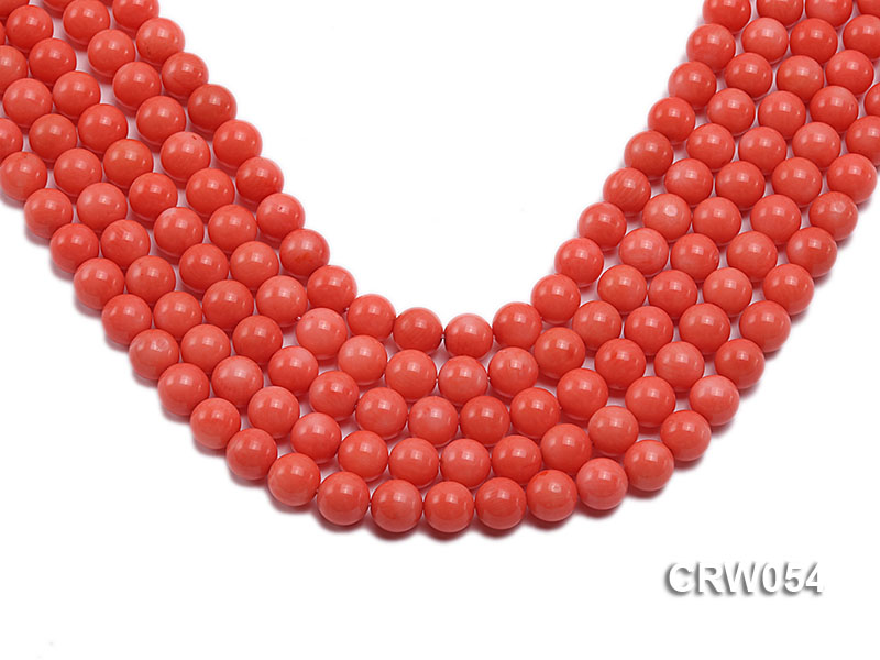 Wholesale 10mm Round Pink Coral Beads Loose String big Image 1