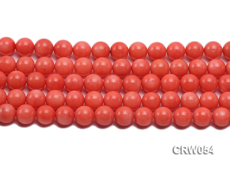 Wholesale 10mm Round Pink Coral Beads Loose String big Image 2