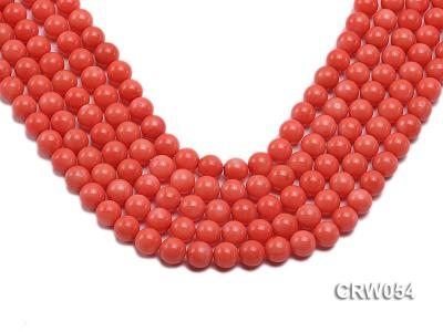 Wholesale 10mm Round Pink Coral Beads Loose String CRW054 Image 1