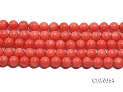 Wholesale 10mm Round Pink Coral Beads Loose String CRW054 Image 2