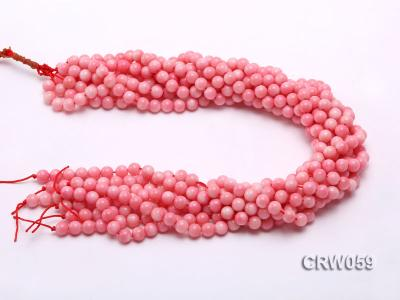 Wholesale 7.5mm Round Pink Coral Beads Loose String CRW059 Image 3