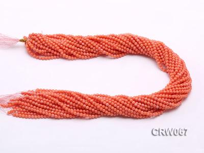 Wholesale 3.5mm Round Orange Coral Beads Loose String CRW067 Image 3
