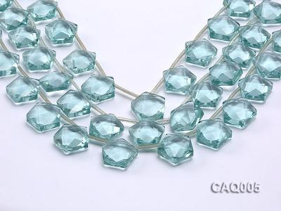 Wholesale 20mm Star-shaped Simulated Aquamarine Beads String CAQ005 Image 1