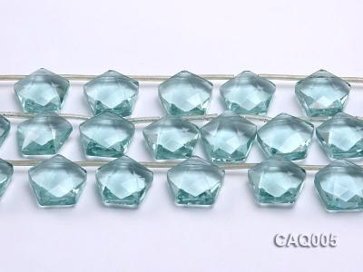 Wholesale 20mm Star-shaped Simulated Aquamarine Beads String CAQ005 Image 2
