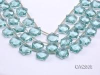 Wholesale 20mm Star-shaped Simulated Aquamarine Beads String CAQ005
