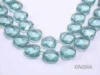Wholesale 22mm Flower-shaped Simulated Aquamarine Beads String CAQ004