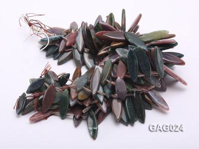 wholesale 17x45mm irregular moss agate piece strings GAG024 Image 3