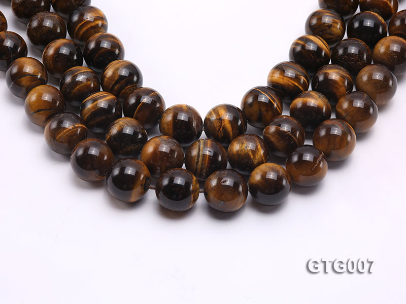 Wholesale 18mm Round Tiger Eye Strings big Image 1