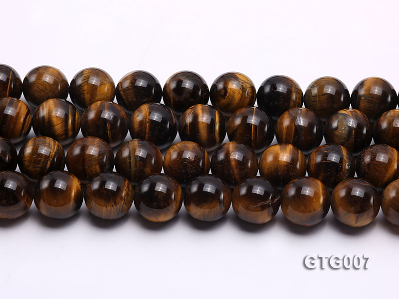 Wholesale 18mm Round Tiger Eye Strings big Image 2