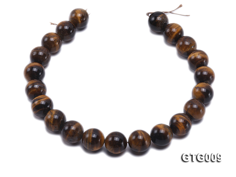 Wholesale 18mm Round Tiger Eye Strings big Image 4