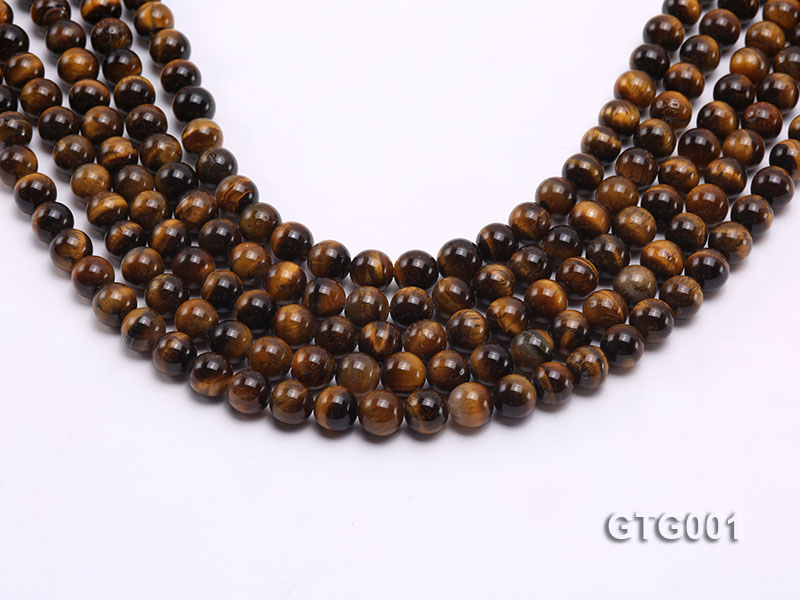 Wholesale 8mm Round Tiger Eye Strings big Image 1