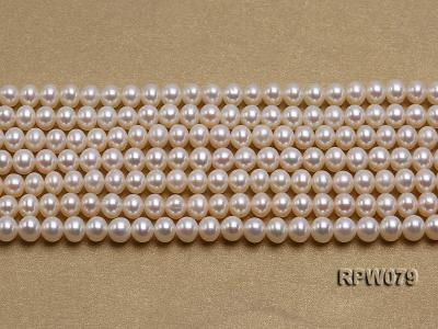 Wholesale AAAAA 5-6mm Classic White Round Freshwater Pearl String RPW079 Image 2