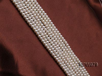 Wholesale AAAAA 5-6mm Classic White Round Freshwater Pearl String RPW079 Image 3