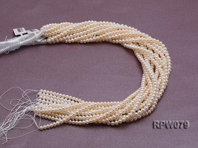 Wholesale AAAAA 5-6mm Classic White Round Freshwater Pearl String RPW079 Image 4