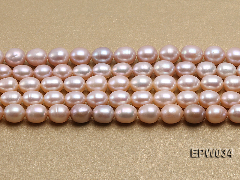 Wholesale 6.5x8mm Natural Pink Rice-shaped Freshwater Pearl String big Image 1