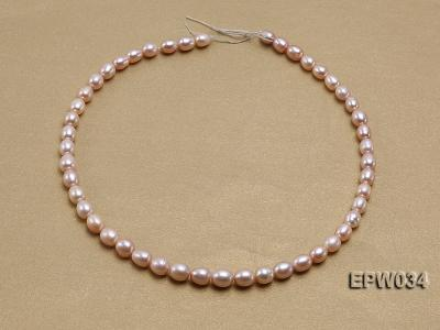 Wholesale 6.5x8mm Natural Pink Rice-shaped Freshwater Pearl String EPW034 Image 3