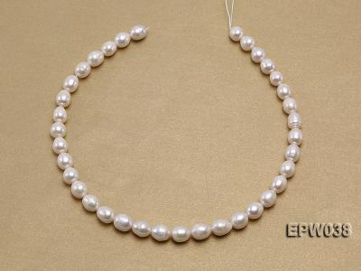 Wholesale 9X11mm Classic White Rice-shaped Freshwater Pearl String EPW038 Image 3