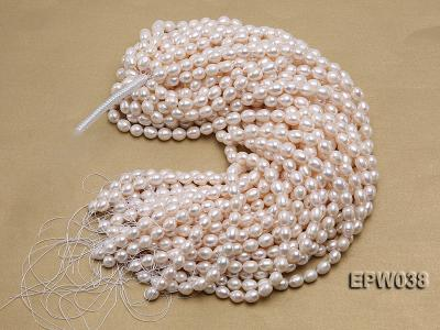 Wholesale 9X11mm Classic White Rice-shaped Freshwater Pearl String EPW038 Image 4