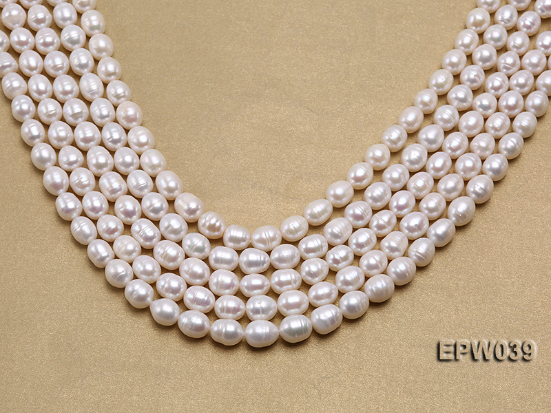 Wholesale 7-8mm Classic White Rice-shaped Freshwater Pearl String big Image 1