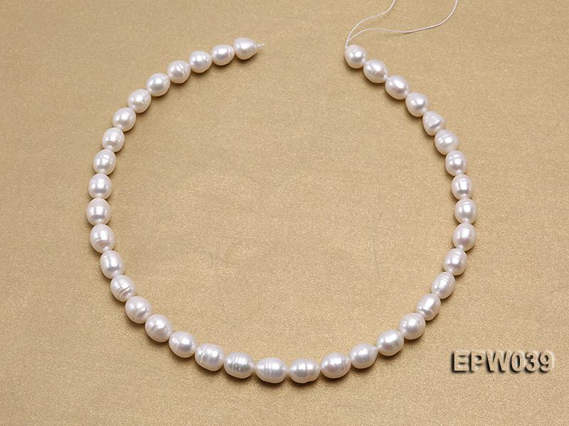 Wholesale 7-8mm Classic White Rice-shaped Freshwater Pearl String big Image 3