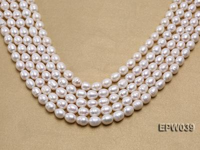 Wholesale 7-8mm Classic White Rice-shaped Freshwater Pearl String EPW039 Image 1