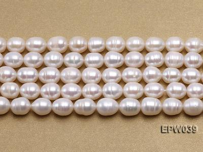 Wholesale 7-8mm Classic White Rice-shaped Freshwater Pearl String EPW039 Image 2