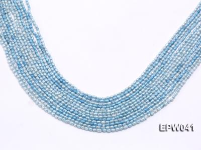 Wholesale 3x3.5mm  Blue Rice-shaped Freshwater Pearl String EPW041 Image 1