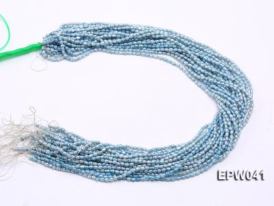 Wholesale 3x3.5mm  Blue Rice-shaped Freshwater Pearl String EPW041 Image 3