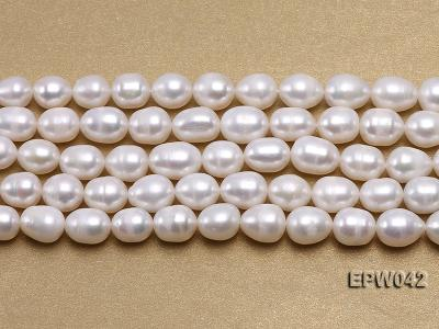 Wholesale 7.5x10mm Classic White Rice-shaped Freshwater Pearl String EPW042 Image 2