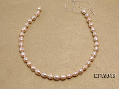 Wholesale 9X11.5mm Lovely Pink Rice-shaped Freshwater Pearl String EPW043 Image 3