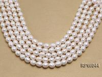 Wholesale 10.5x12mm Classic White Rice-shaped Freshwater Pearl String EPW044