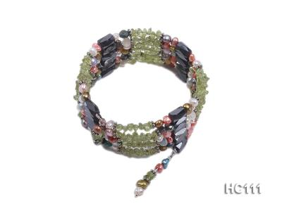 Multicolor pearl gemstone and crystal bracelet HC111 Image 1