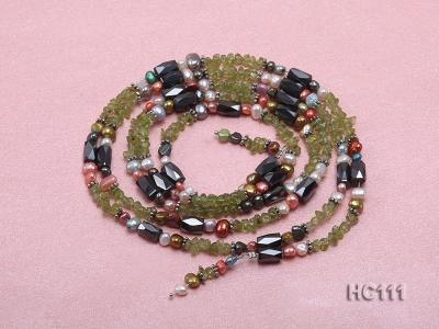 Multicolor pearl gemstone and crystal bracelet HC111 Image 3